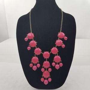 Erica Lyons Necklace Pink Dangle Beaded Boho chain